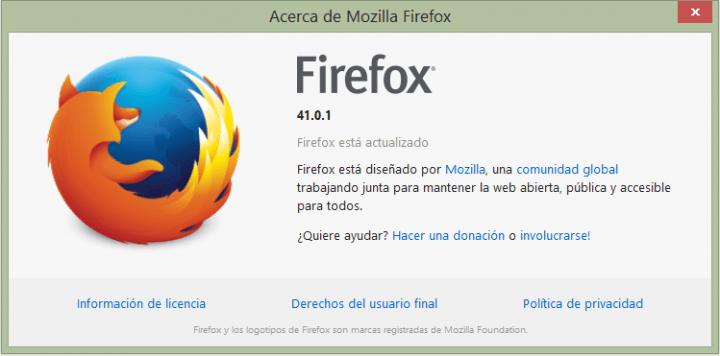 Imagen - Descarga Mozilla Firefox 41.0.1 y corrige importante fallos