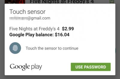Imagen - La Play Store ya soporta huella digital en las compras