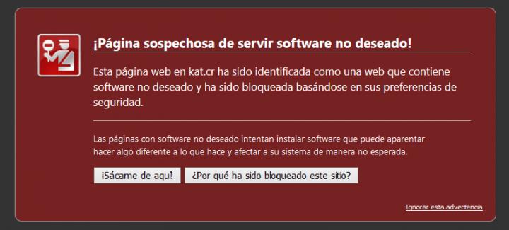 Imagen - Kickass Torrents, bloqueado por Chrome y Firefox