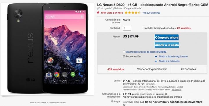 Imagen - Compra el Nexus 5 por menos de 220 euros