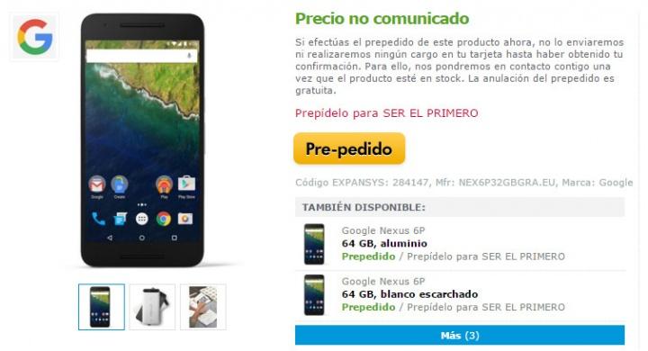 Imagen - 5 sitios para comprar el Nexus 6P en España