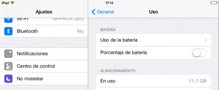 Imagen - Cómo mostrar/ocultar el porcentaje de batería restante en iOS