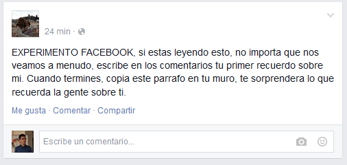 """Imagen - """"Tu primer recuerdo sobre mi"""", la última moda en Facebook"""