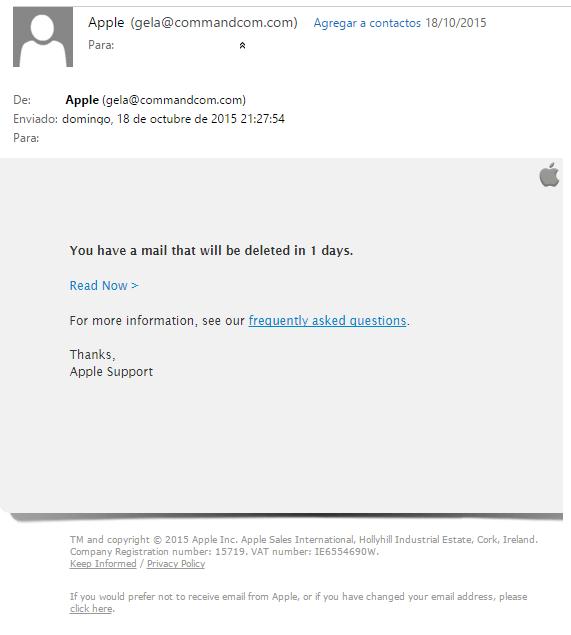 Imagen - Cuidado con los falsos emails de Apple