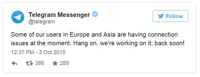 Imagen - Telegram está caído para todos