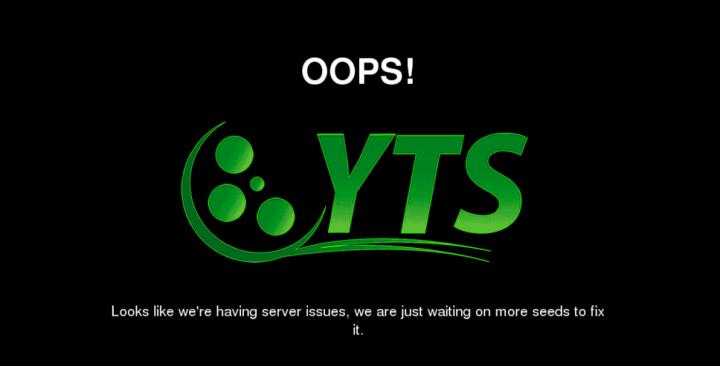 YIFY parece que echa el cierre