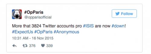 Imagen - Anonymous desvela 3.824 cuentas del Estado Islámico