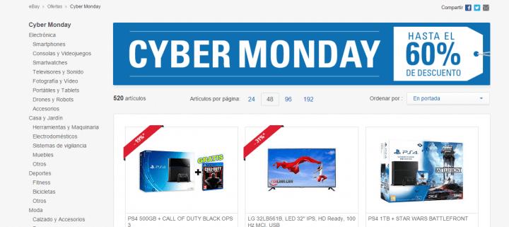 Imagen - Cyber Monday en eBay: ofertas de hasta el 60% de descuento