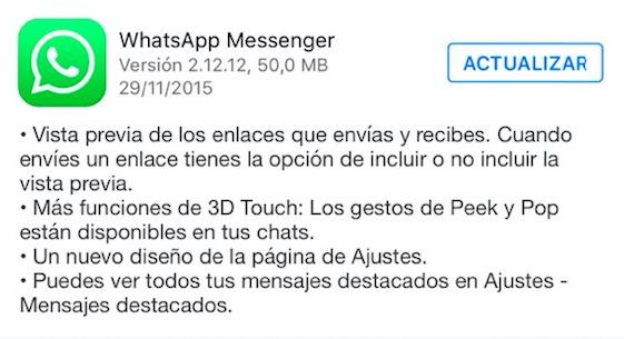 Imagen - Descarga WhatsApp 2.12.12 para iPhone con más novedades