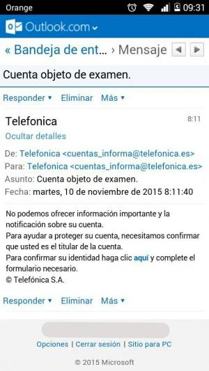 Imagen - Cuidado con los nuevos correos que suplantan a Movistar