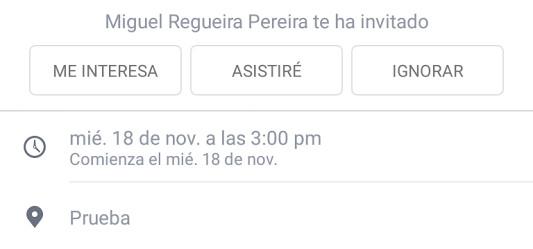 """Imagen - Facebook cambia el """"Quizá"""" en los eventos por el """"Me interesa"""""""