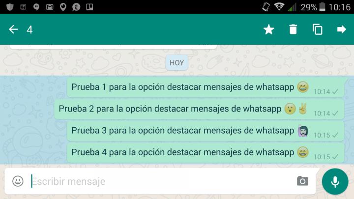 Imagen - Descarga WhatsApp 2.12.338 con la función destacar mensajes