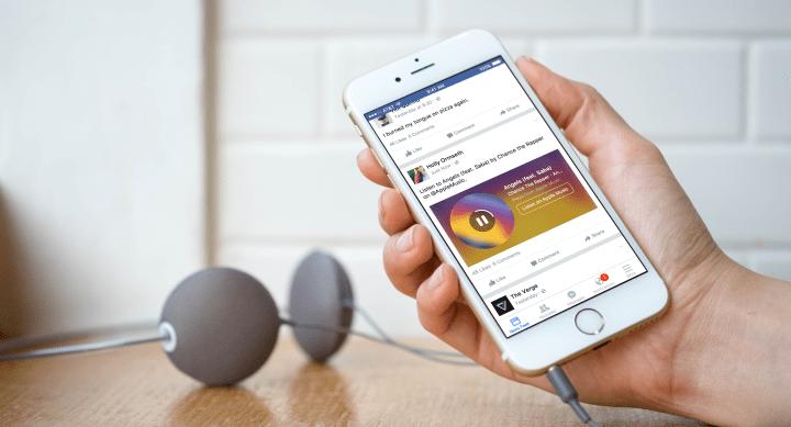 Facebook reproducirá canciones de Spotify y Apple Music en el timeline