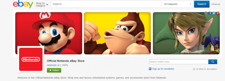 Imagen - Nintendo ya cuenta con tienda en eBay