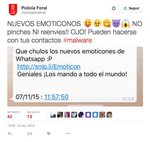 Imagen - Se extiende promesa de nuevos emoticonos en WhatsApp que es malware