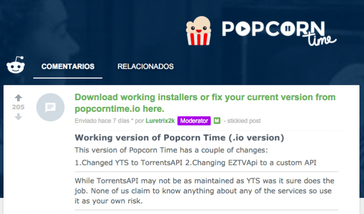 Imagen - Popcorn Time vuelve: no ha sido cerrado