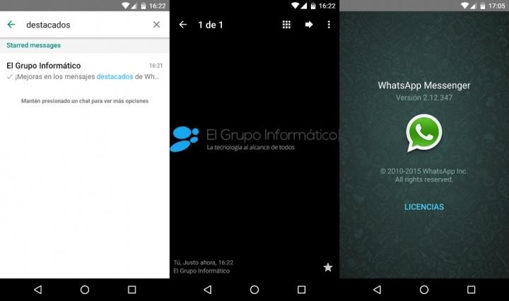 Imagen - WhatsApp 2.12.347 para Android mejora los mensajes destacados