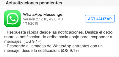 Imagen - Descarga ya WhatsApp 2.12.10 para iPhone con respuesta rápida desde la App Store