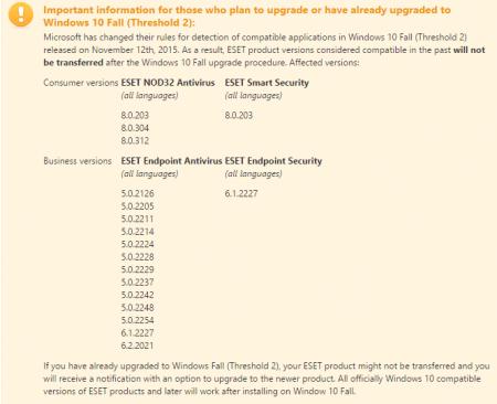 Imagen - La actualización de noviembre de Windows 10 elimina el antivirus de ESET