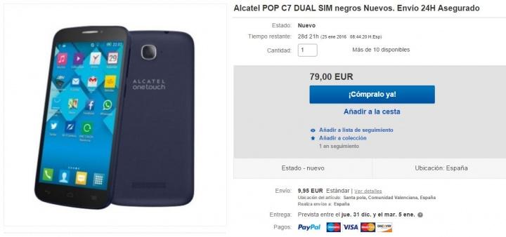 Imagen - 5 tiendas donde comprar el Alcatel OneTouch Pop C7
