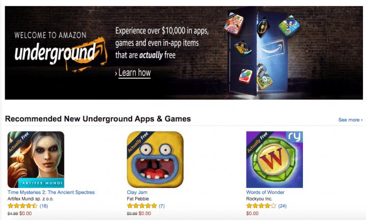Imagen - Consigue 1.000 aplicaciones gratis con Amazon Underground