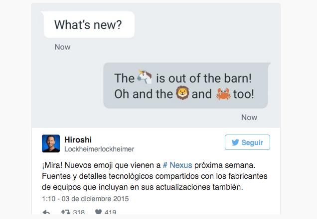Imagen - Los nuevos emojis llegarán a Android la próxima semana