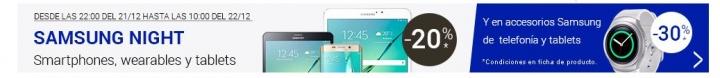 Imagen - 20% de descuento en móviles y tablets Samsung en Fnac solo esta noche