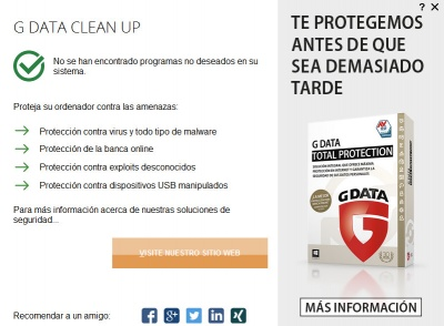 Imagen - G Data Clean Up: elimina toolbars, programas no deseados y adware