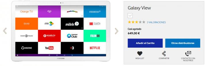 Imagen - Dónde comprar la Samsung Galaxy View
