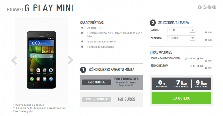 Imagen - 5 webs donde comprar Huawei G Play Mini