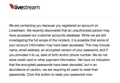 Imagen - LiveStream ha sido hackeado