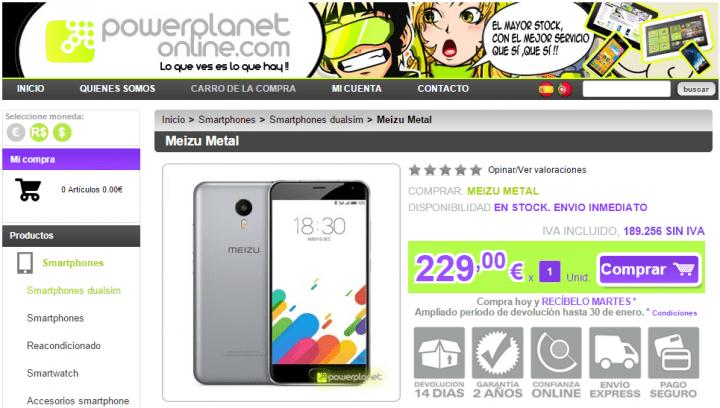 Imagen - 5 webs donde comprar el Meizu Metal