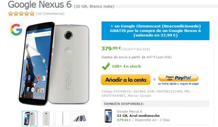 Imagen - Nexus 6 ya no se puede comprar en Google Play