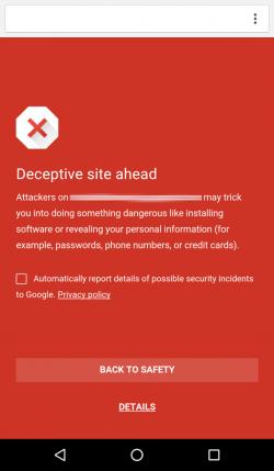 Imagen - Chrome para Android añade Safe Browsing