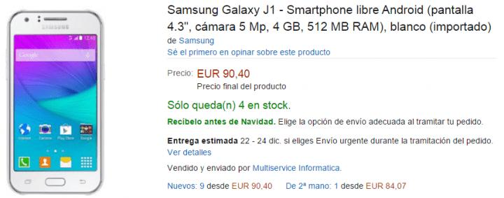 Imagen - 7 webs dónde comprar el Samsung Galaxy J1