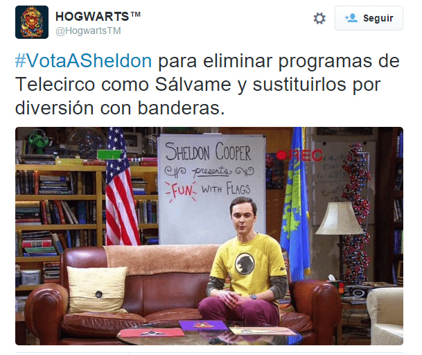 Imagen - Sheldon Cooper, el presidente que quieren los españoles #VotaASheldon