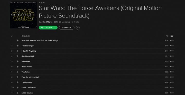 Imagen - Escucha gratis la BSO de Star Wars: El Despertar de la Fuerza en Spotify