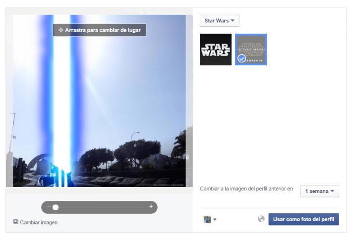 Imagen - Cambia tu foto de perfil de Facebook por el sable de luz de Star Wars