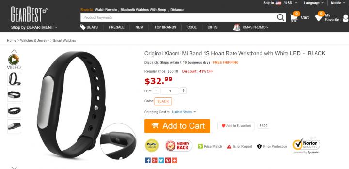 Imagen - 5 webs donde comprar la Xiaomi Mi Band 1S