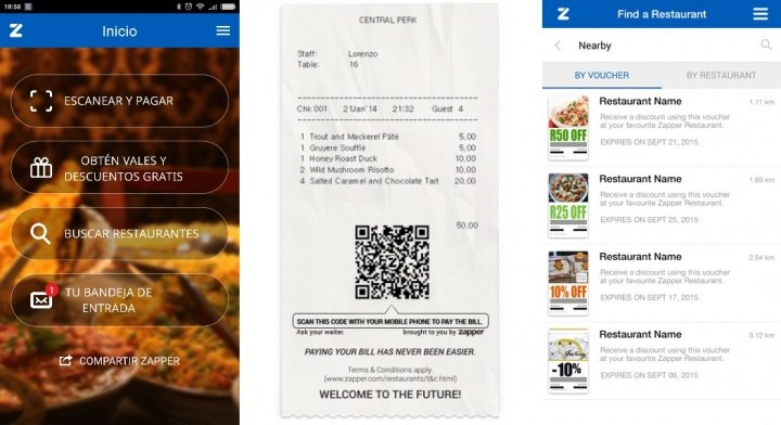 Imagen - Zapper, la app para pagar la cuenta en restaurantes