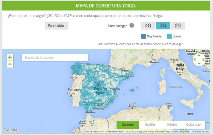 Mapa De Cobertura Yoigo.Cual Es La Cobertura De Yoigo