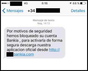 Imagen - Un SMS intenta robarte tu cuenta de Bankia