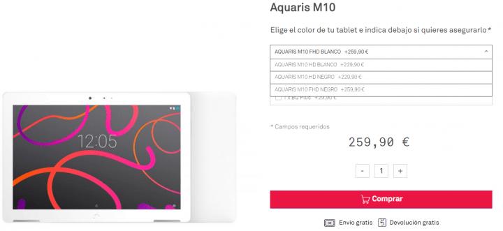 Imagen - 7 tiendas dónde comprar la bq Aquaris M10