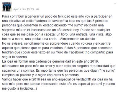 """Imagen - Llegan las """"cadenas de favores"""" a Facebook"""
