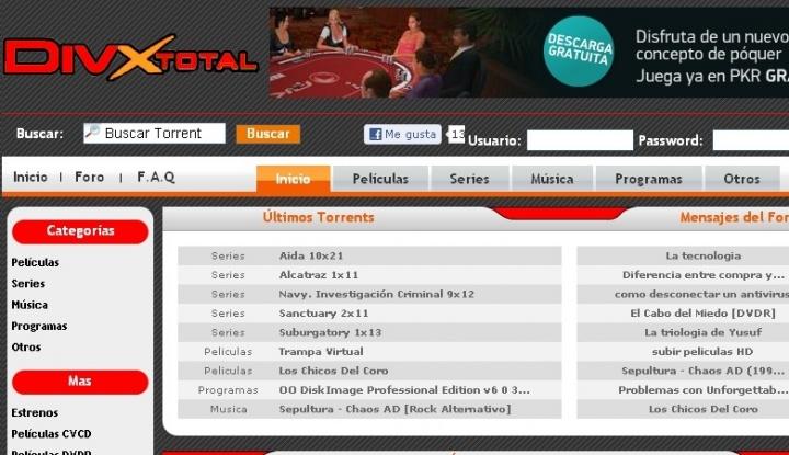 Imagen - Divxtotal está bloqueada en España