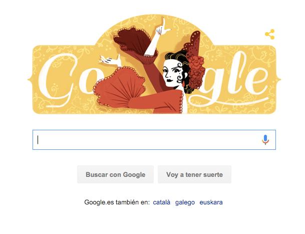 Imagen - Lola Flores, homenajeada en el nuevo Doodle de Google