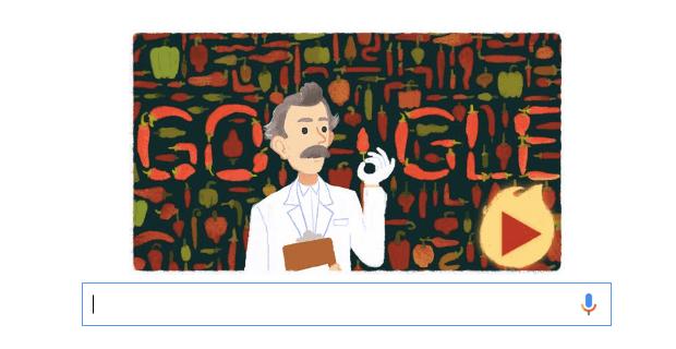 Imagen - Comprueba la escala de pimientos picantes con el Doodle de Wilbur Scoville