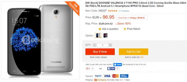 Imagen - 5 sitios dónde comprar el Doogee Valencia 2 Y100 Pro