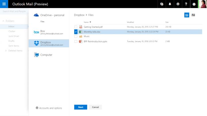 Imagen - Office ya permite conectarse con Dropbox y Box