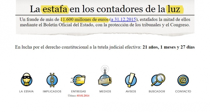 Imagen - Estafaluz, la web de un jubilado contra las eléctricas